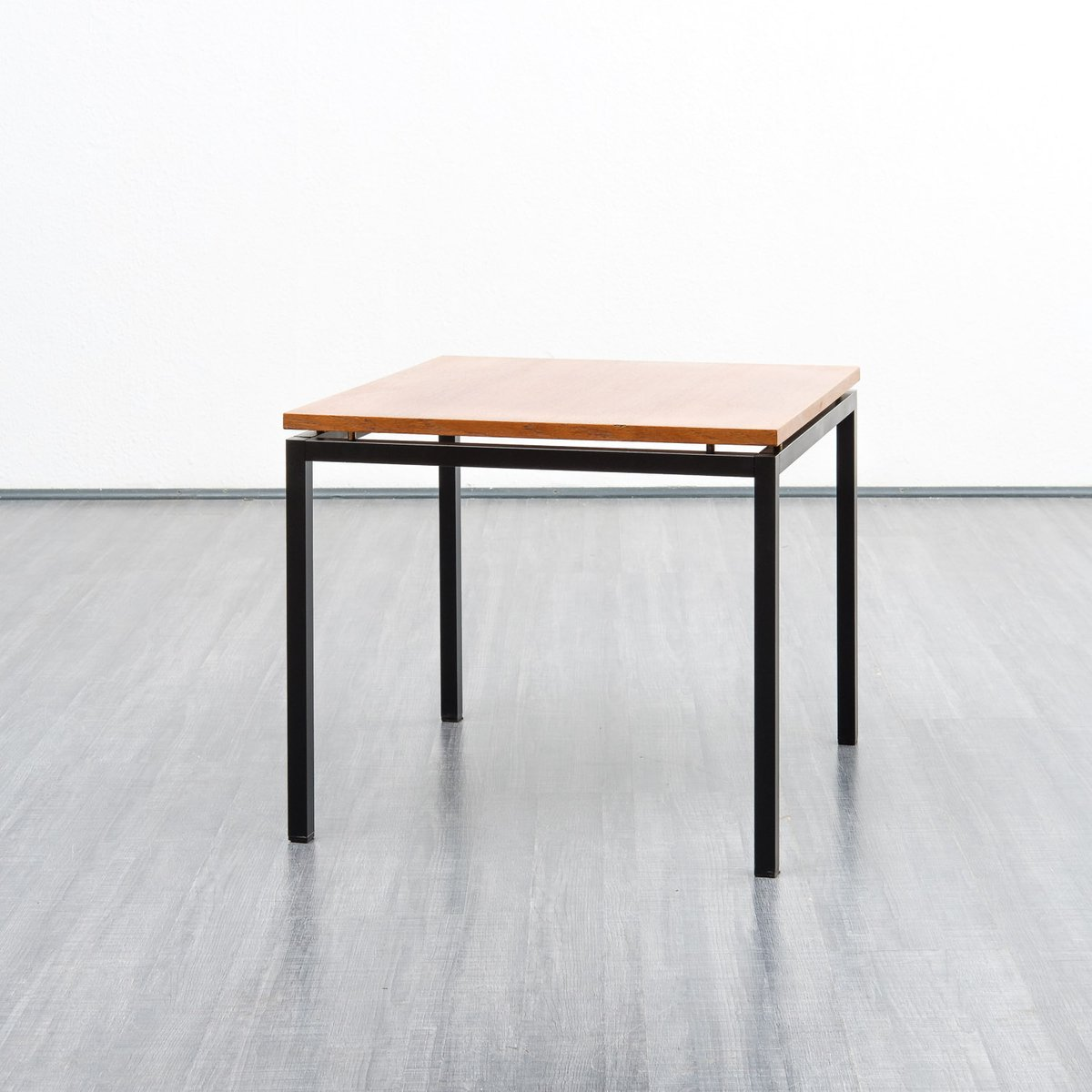 Vintage Teak & Metal Coffee Table, 1960s For Sale At Pamono
