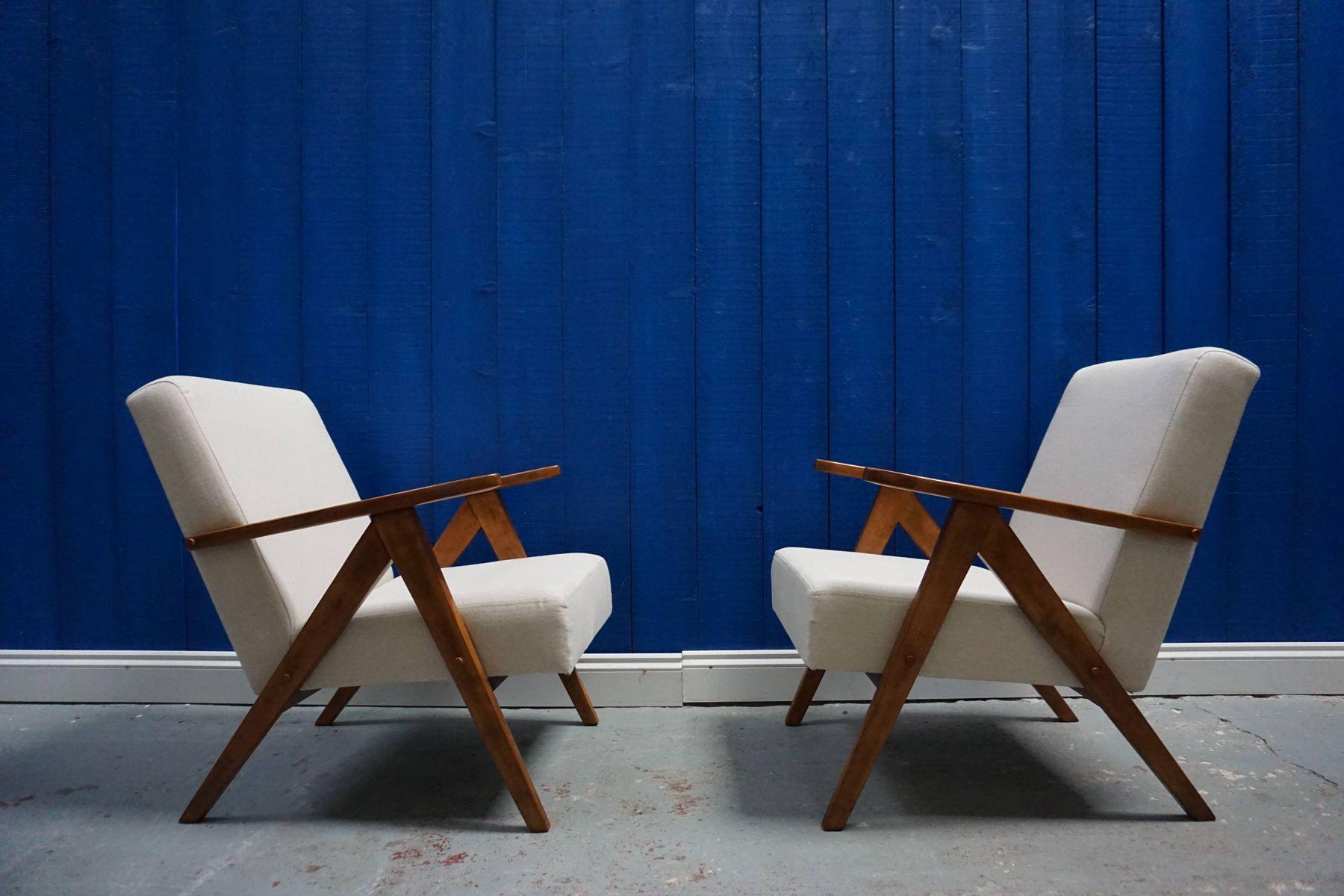 Moderne Mid-Century Modell B-310 VAR Sessel mit Tweedbezug von Zak?ady...