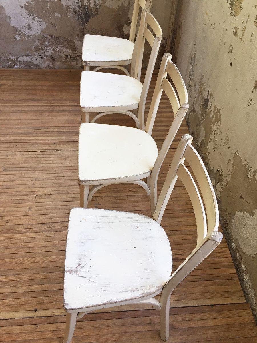 Weiße Stühle Von Baumann 1960er 4er Set Bei Pamono Kaufen
