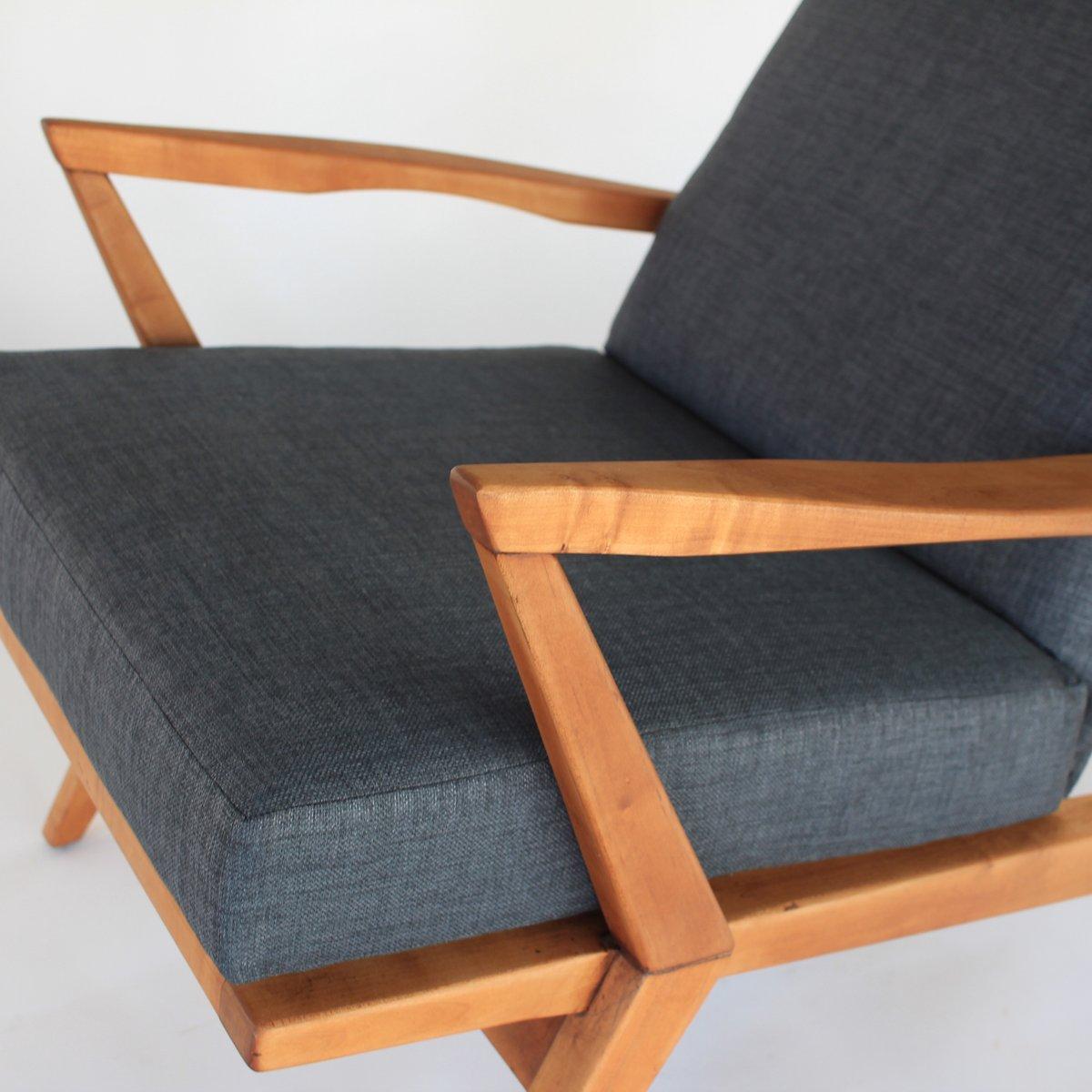 skulpturaler mid century sessel mit hoher r ckenlehne bei. Black Bedroom Furniture Sets. Home Design Ideas