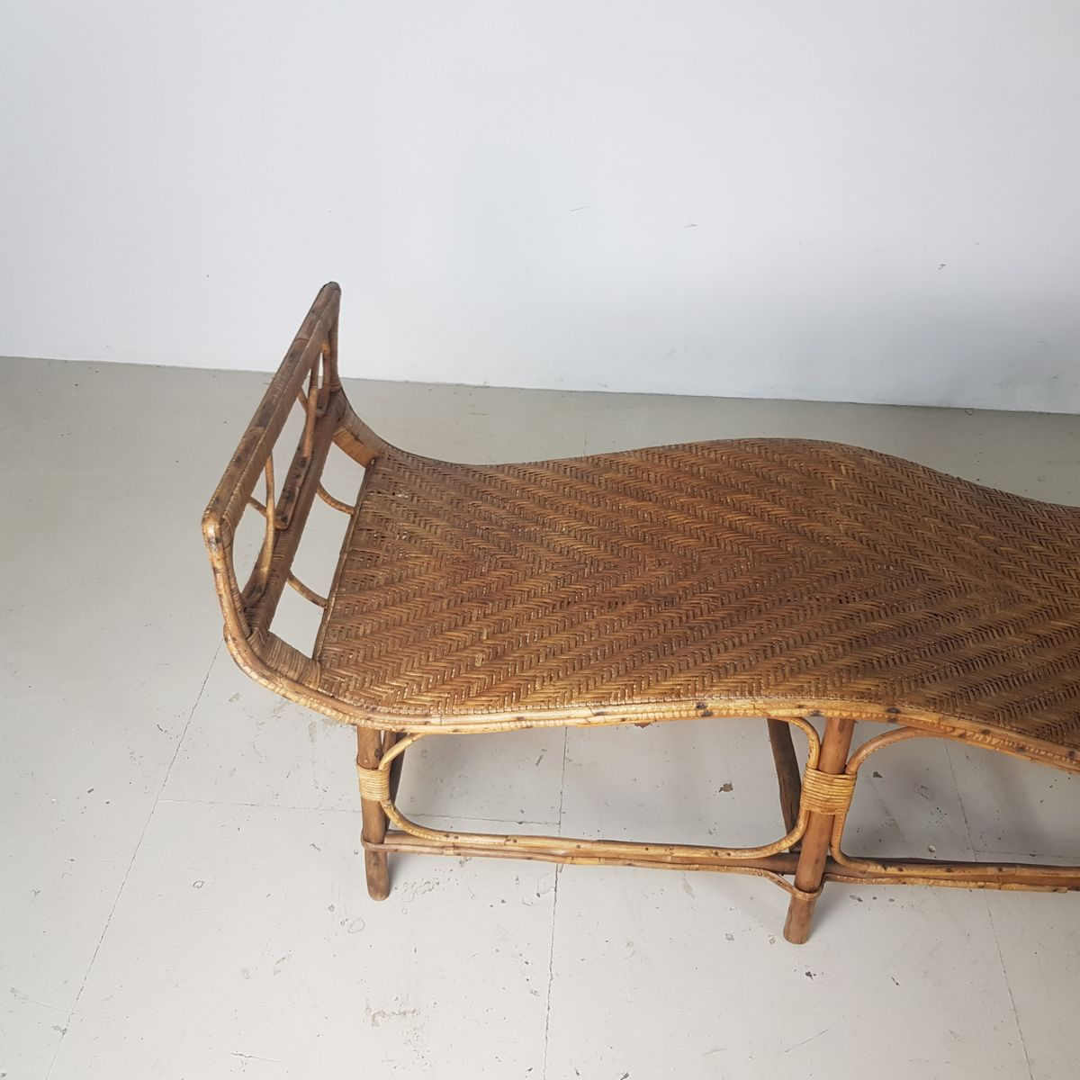 Bamboo Amp Rattan Chaise Lounge 1920s For Sale At Pamono