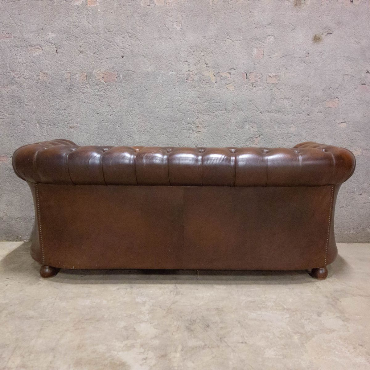 Vintage Leather Chesterfield Sofa 1970s