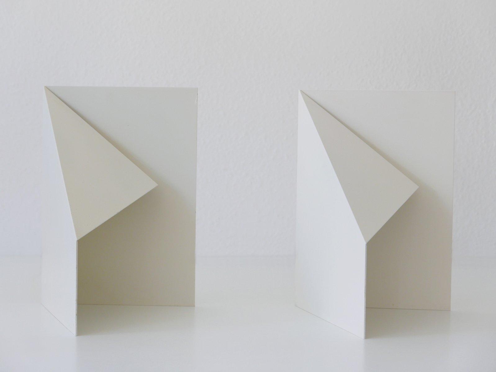 Mid-Century Origami Design Beistelltischlampen, 1970er, 2er Set