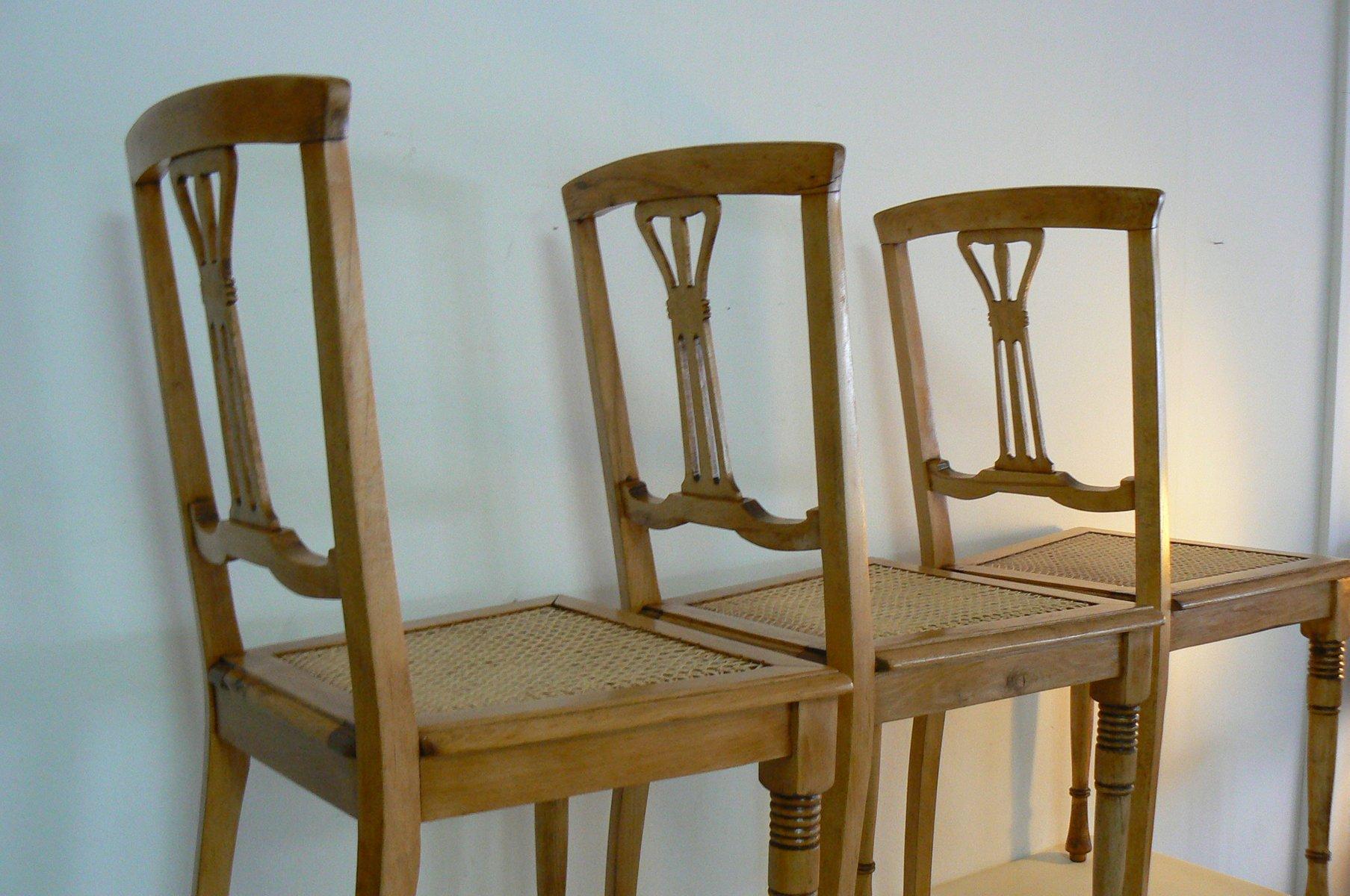Antike Stühle Im Jugendstil Aus Buche 3er Set Bei Pamono