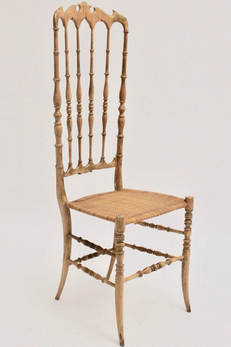 Sedia chiavari con schienale alto anni 39 40 in vendita su for Sedia design schienale alto