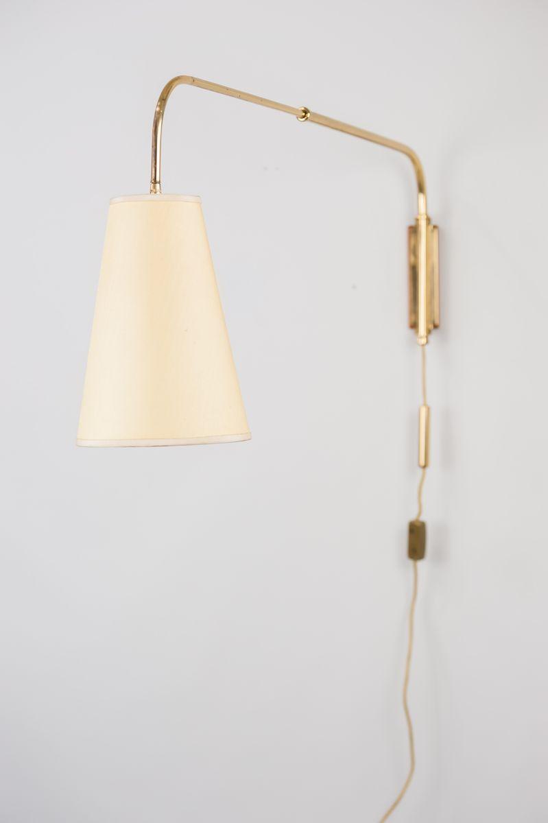 Ausziehbare Art Deco Wandlampe von J.T. Kalmar, 1950er