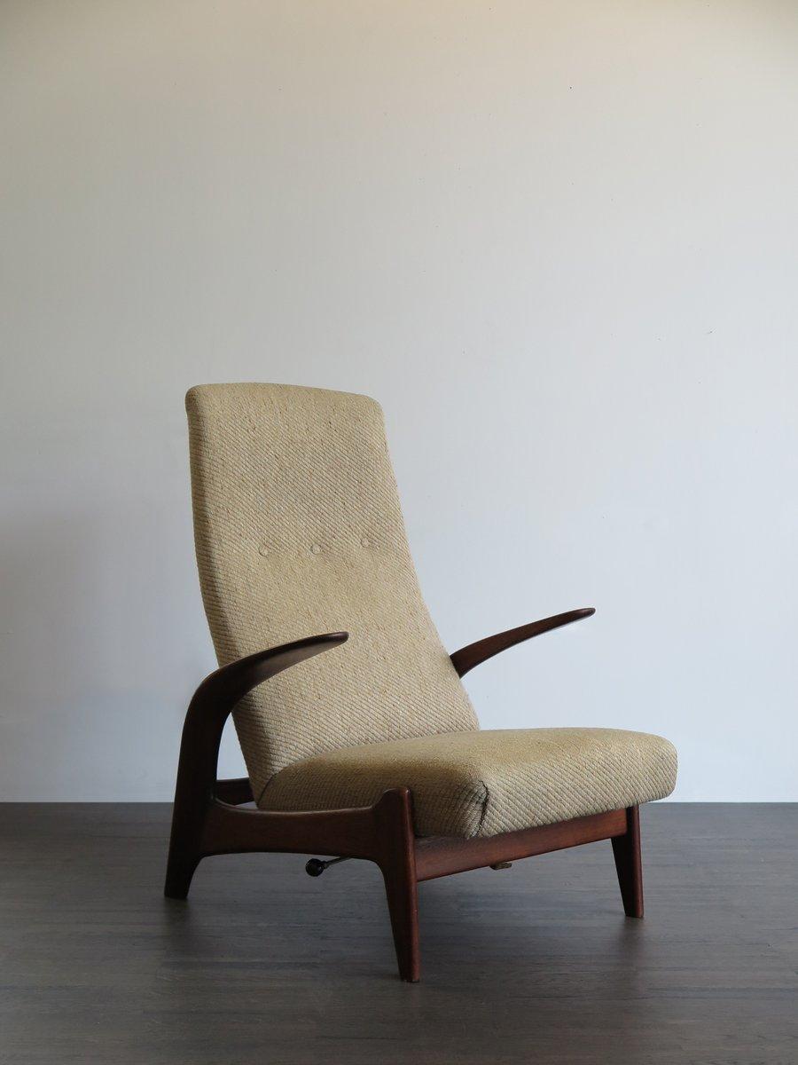 Rock ´n´ Rest Sessel aus Stoff und Holz von Gimson and Slater, 1960er