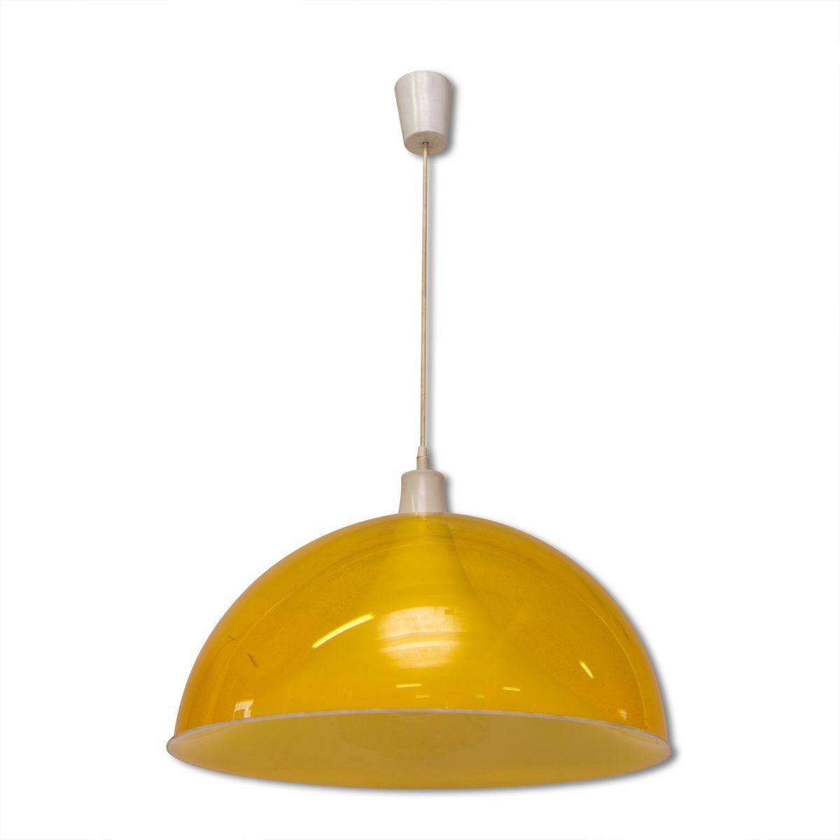 Europäische Mid-Century Deckenlampe aus Kunststoff, 1960er