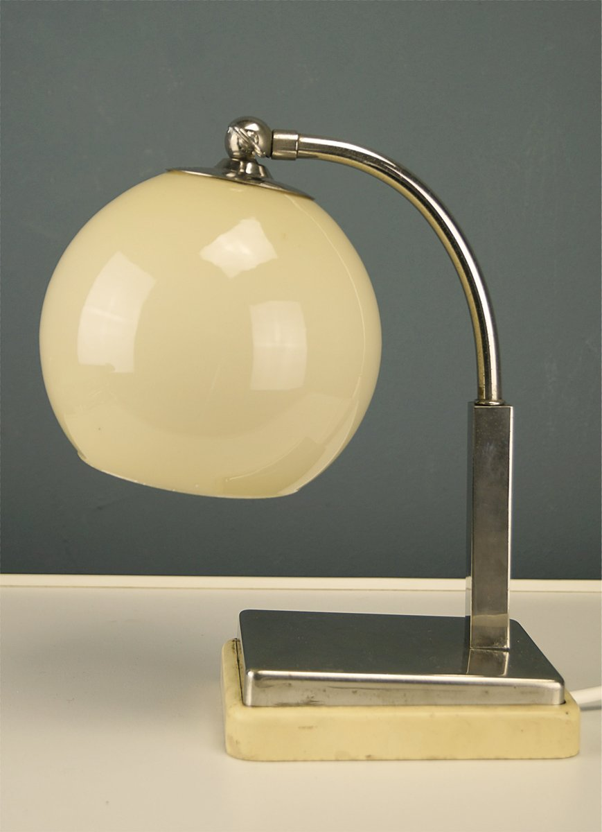 Deutsche Bauhaus Tastlicht Tischlampe von Marianne Brandt für Ruppel W...