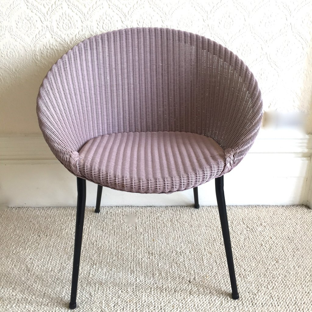 Strange Vintage Lilac Wicker Lounge Chair From Lusty Lloyd Loom Machost Co Dining Chair Design Ideas Machostcouk