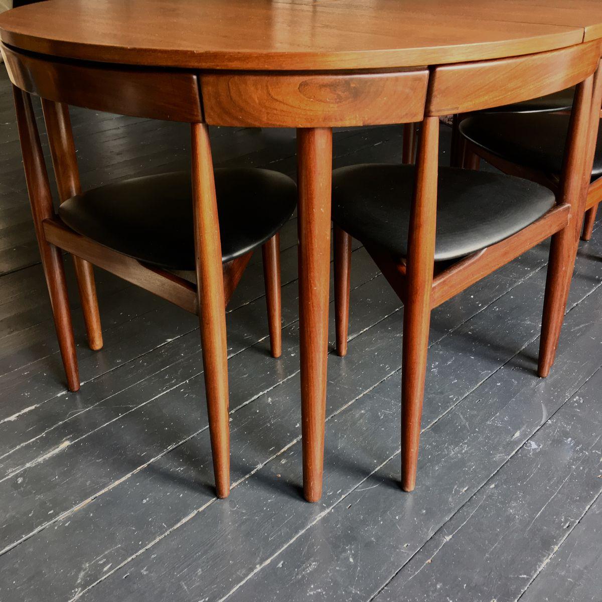 Danish Dining Room Set: Danish Roundette Dining Room Set By Hans Olsen For Frem