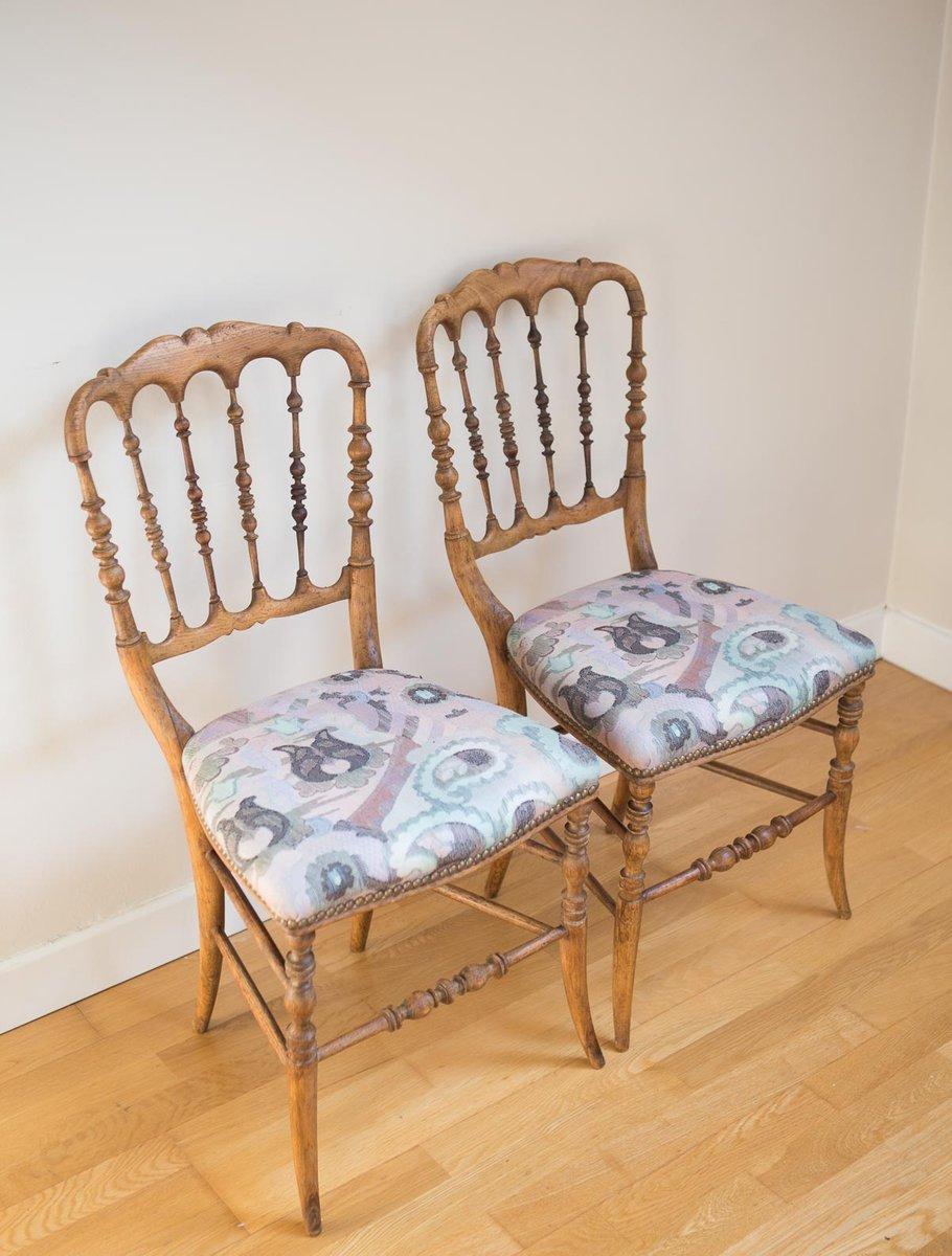 Sedie vintage in legno, set di 2 in vendita su Pamono