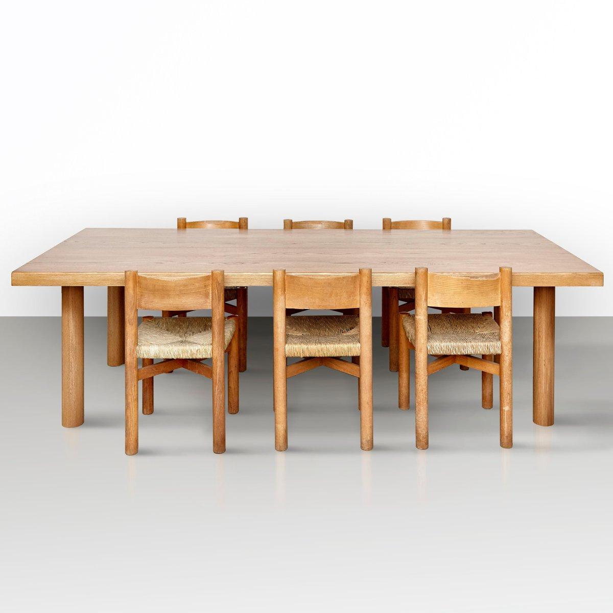Tavolo da pranzo grande in frassino massiccio di Dada Est ...