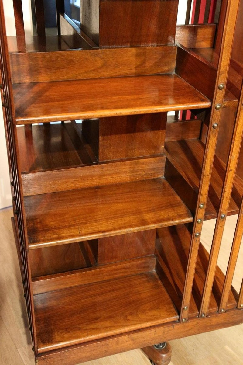 Antique Walnut Revolving Bookcase From Maple Co
