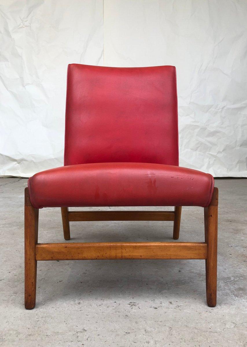 Roter Mid Century Sessel 1950er bei Pamono kaufen