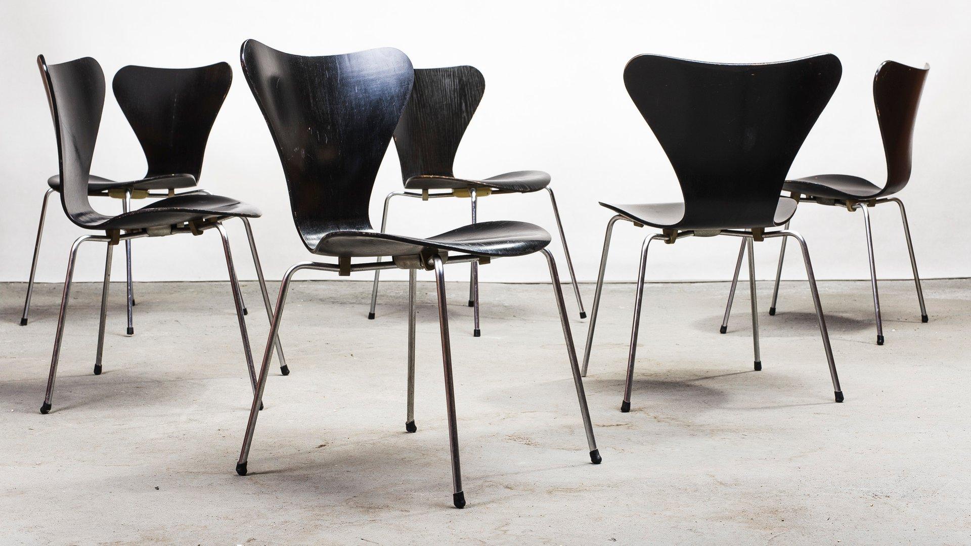 Modell 3107 Stühle Von Arne Jacobsen Für Fritz Hansen