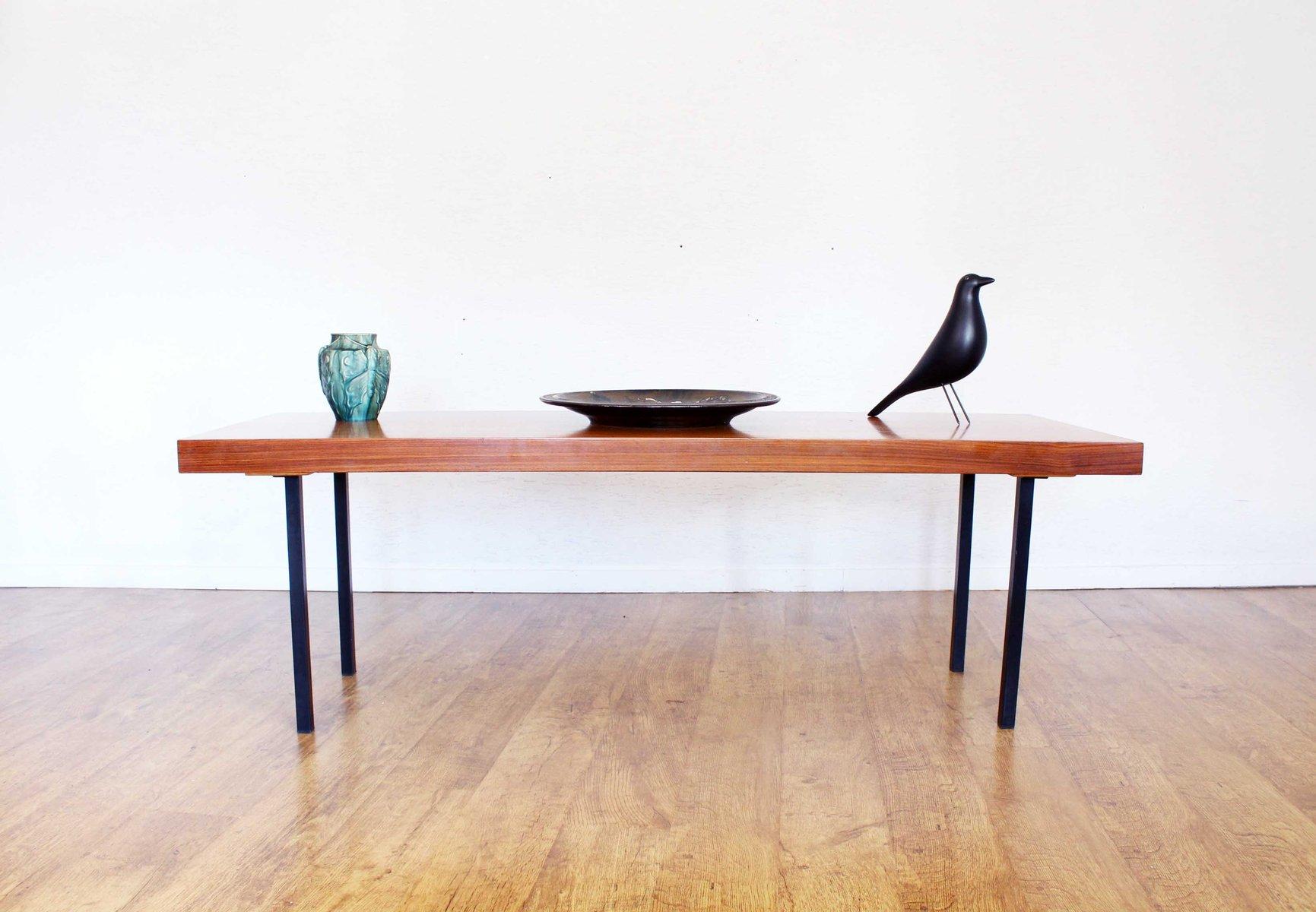 Table basse scandinave en m tal et teck avec rallonge Table scandinave avec rallonge