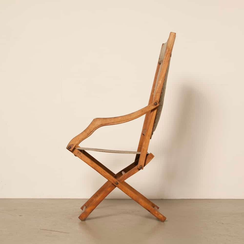Admirable Vintage Beech And Skai Folding Chair 1930S Pabps2019 Chair Design Images Pabps2019Com