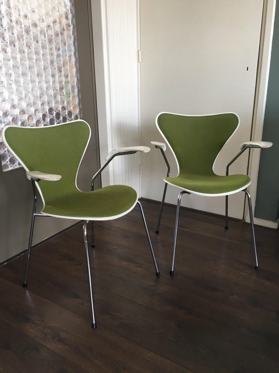 Sedie da pranzo nr. 3207 vintage di Arne Jacobsen per ...