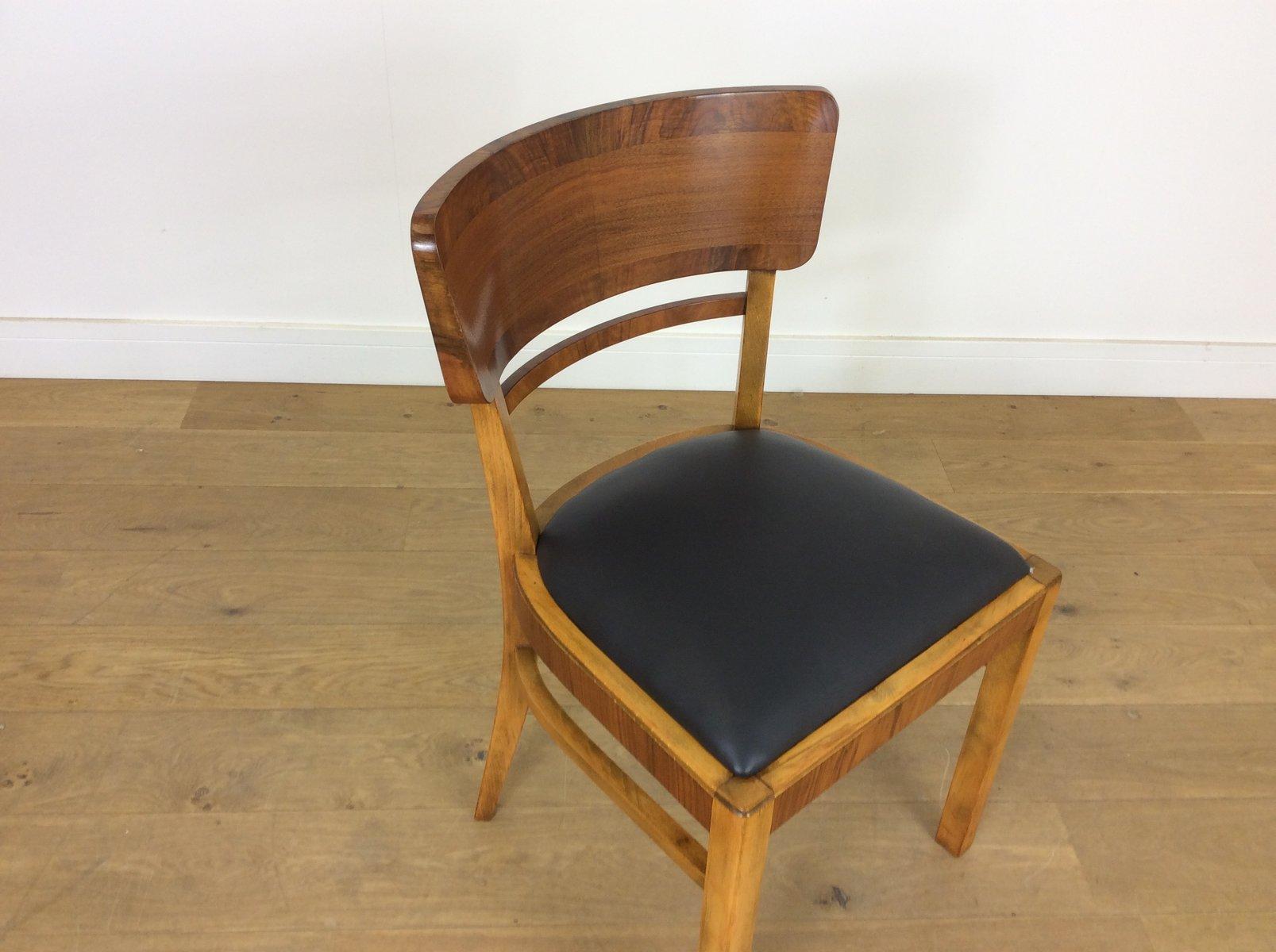 Ausziehbarer Art Déco Esstisch & 6 Stühle Von Jindřich