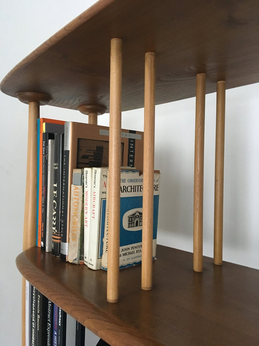 Elm And Beech Bookcase Or Room Divider By Lucian Ercolani For Ercol 1960s
