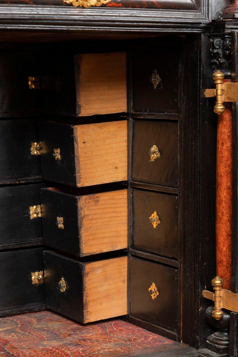 1 Paar Schubladen mit Bronzegriff für antiken Schrank