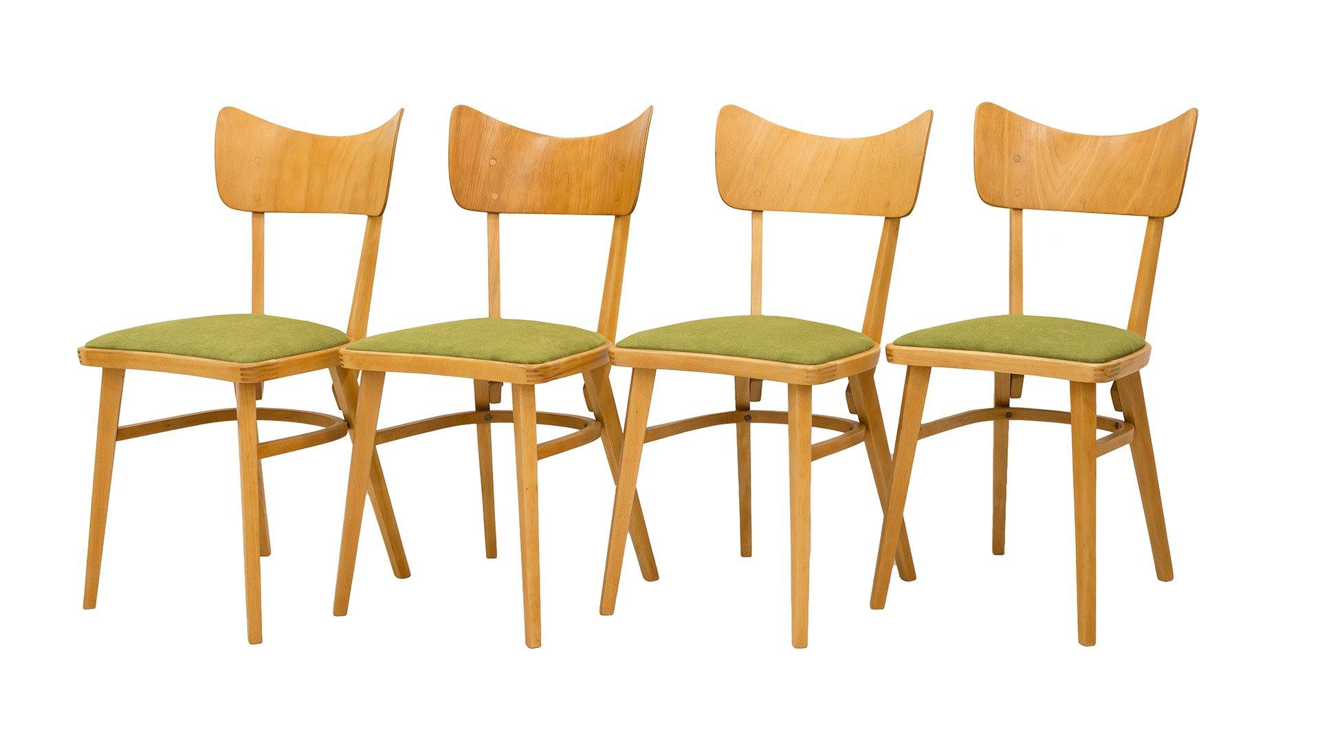Tschechoslowakische Stühle 1960er 4er Set Bei Pamono Kaufen