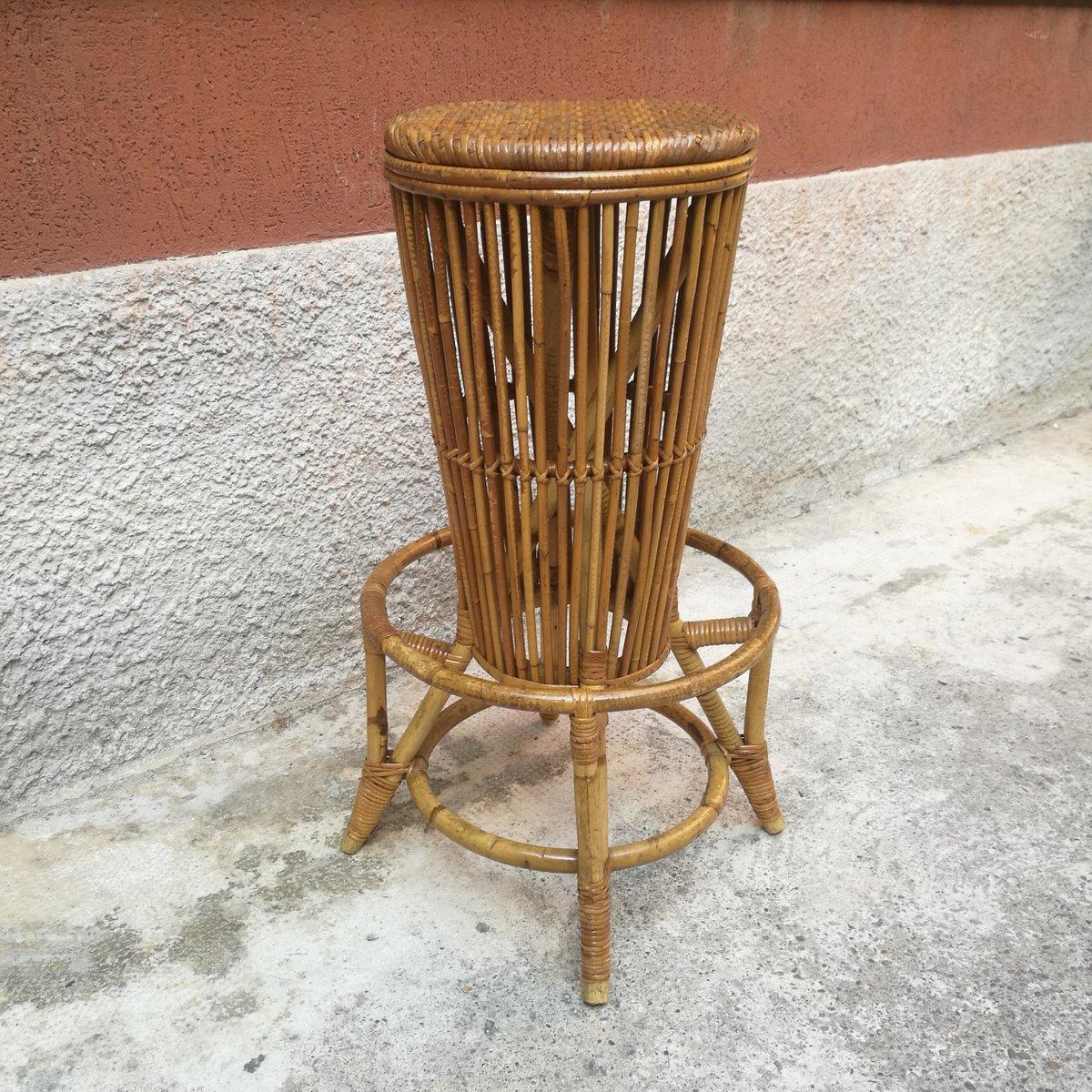barhocker aus rattan 1950er bei pamono kaufen