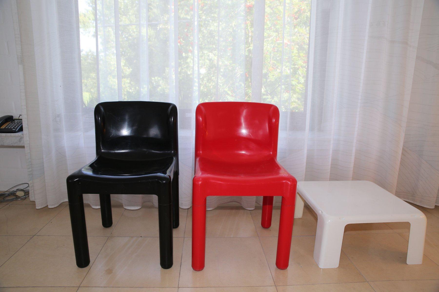 Rote Modell 4875 Stühle Von Carlo Bartoli Für Kartell