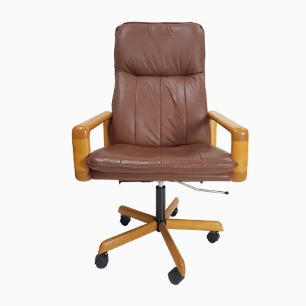 Phenomenal Vintage Danish Leather Executive Swivel Office Chair 1960S Gamerscity Chair Design For Home Gamerscityorg