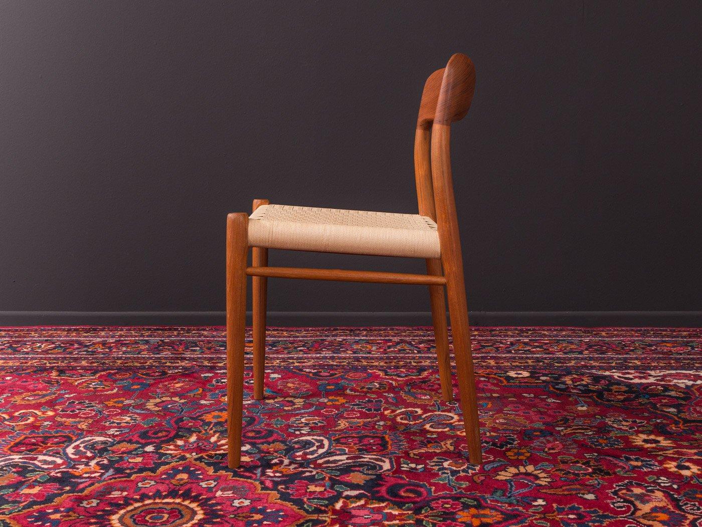 Modell 75 Stühle Von Niels O Møller 1950er 4er Set Bei