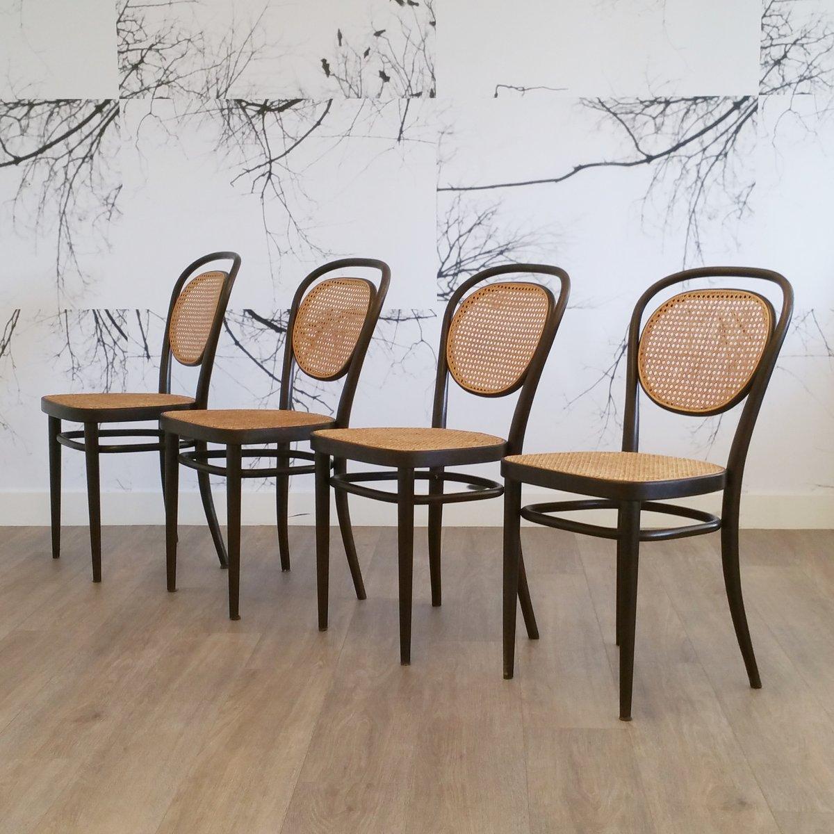 No 215R Stühle Von Thonet 1976 4er Set Bei Pamono Kaufen