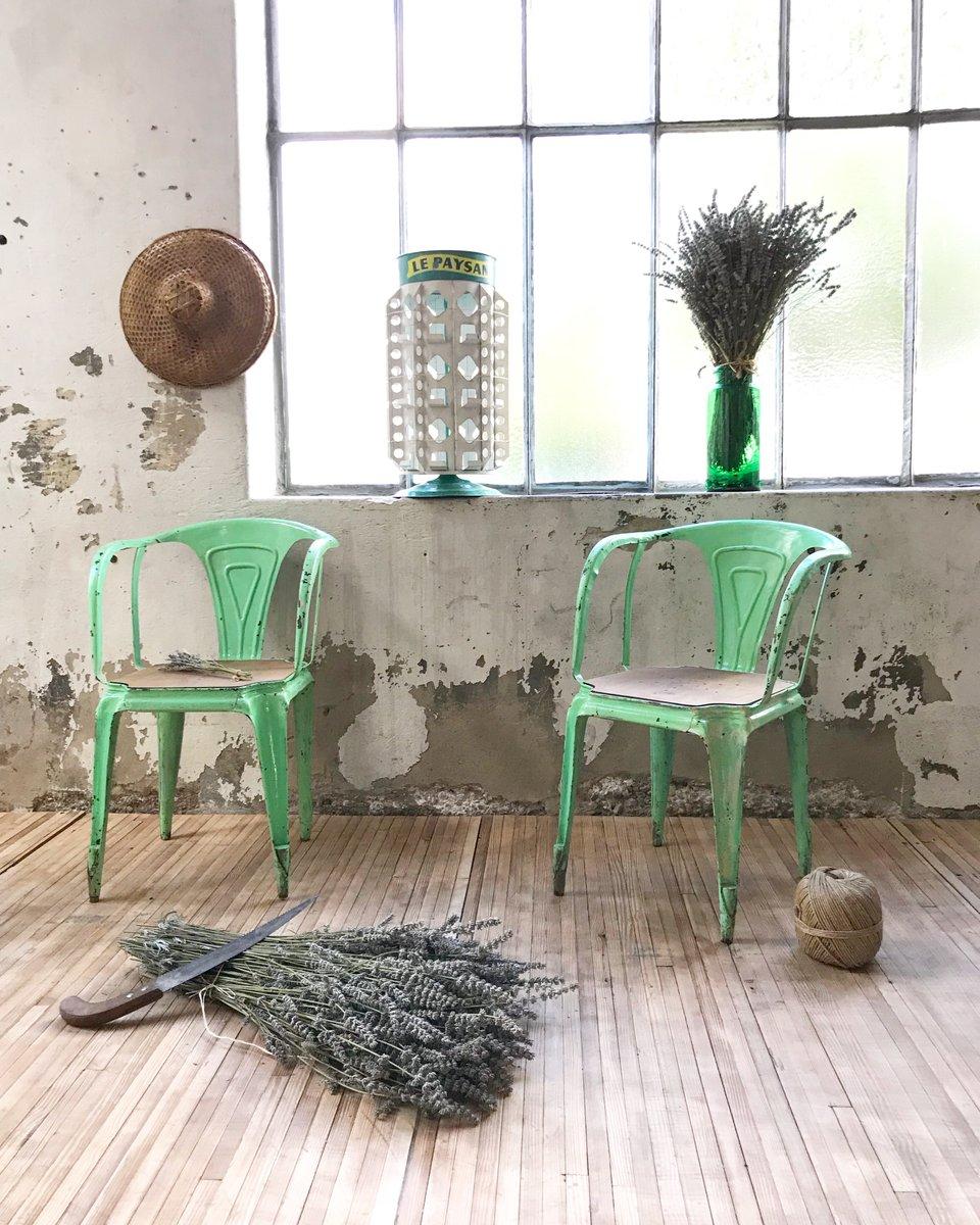 vintage st hle aus eichenholz metall von joseph mathieu f r multipl 39 s 1930er 2er set bei. Black Bedroom Furniture Sets. Home Design Ideas