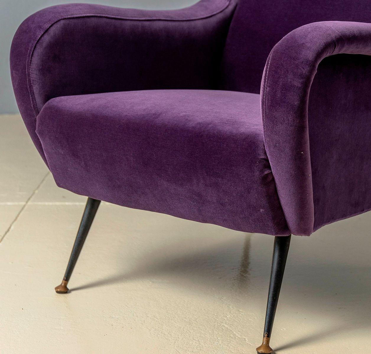 Italienische Senior Sessel von Marco Zanuso für Arflex, 1950er, 2er Se...