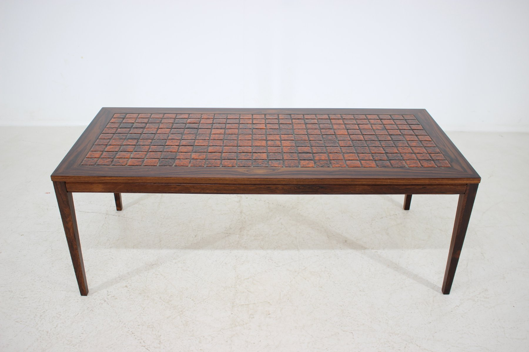 Danish Rosewood Ceramic Tile Coffee Table 1960s For Sale At Pamono [ 1200 x 1800 Pixel ]