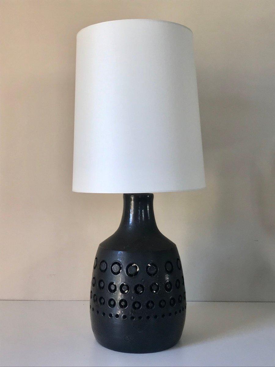 Lampada Da Tavolo In Ceramica Traforata Anni 60 In Vendita Su Pamono