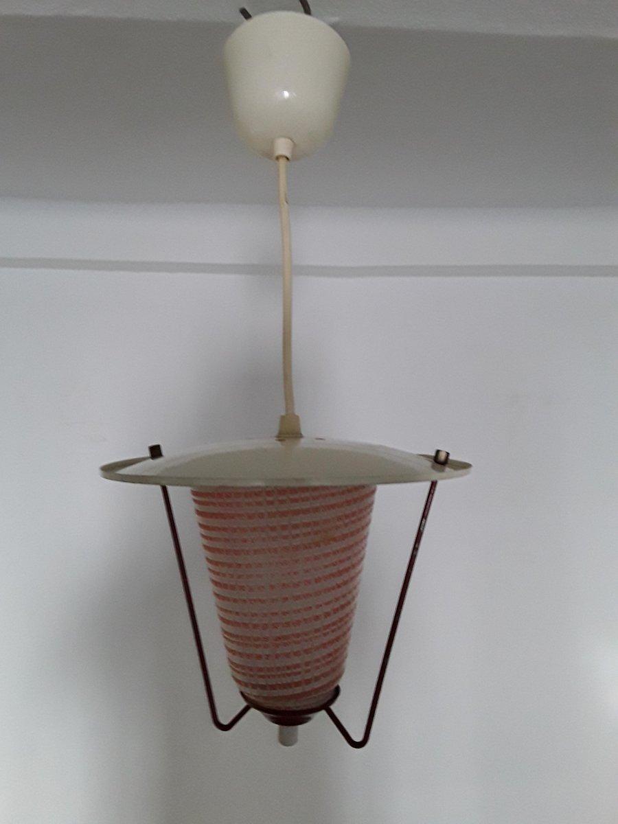 Blown glass pendant glass pendant Murano glass blown glass Transparent gray ball with golden metallic dots