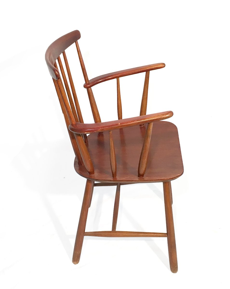Sedia da scrivania vintage marrone, Svezia, anni '60 in ...