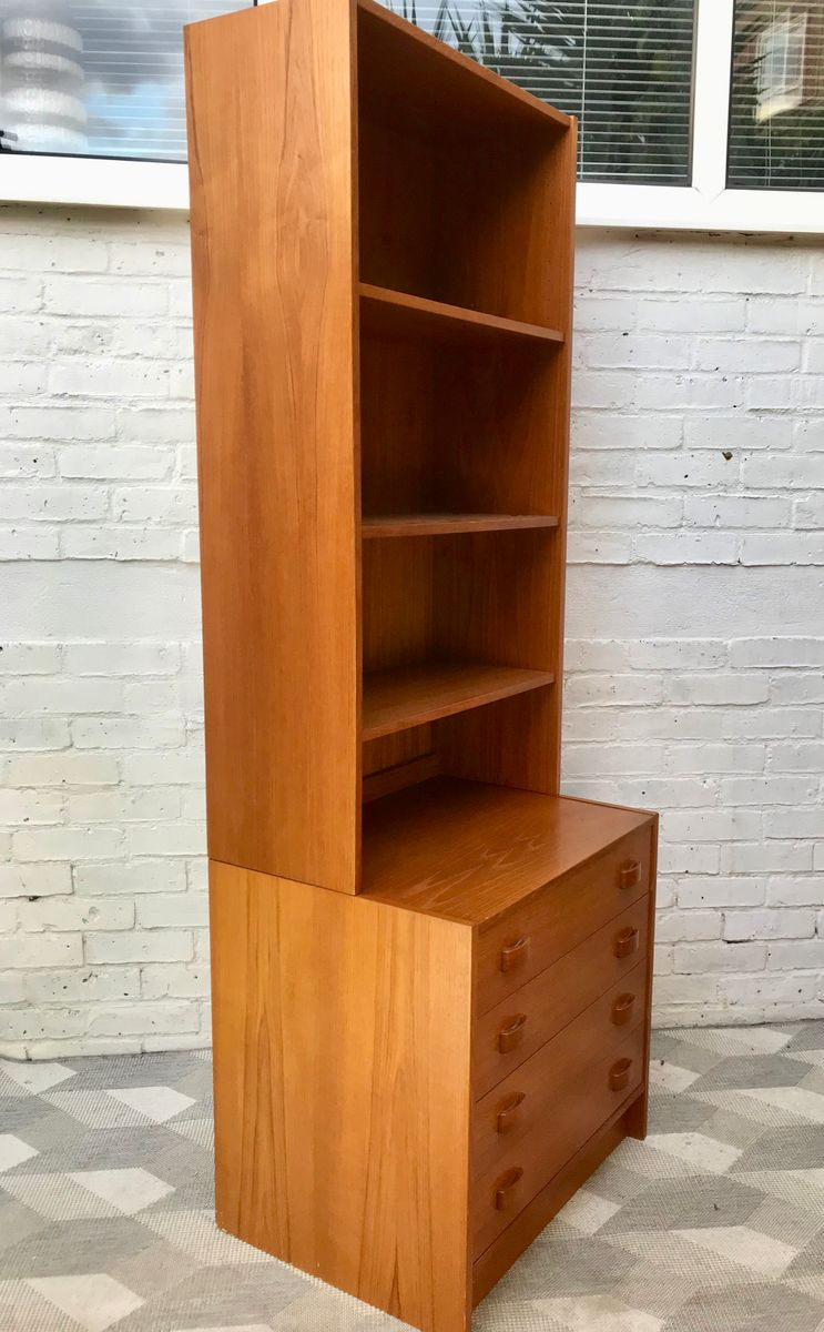 Danish Bookshelf With Drawers From Domino Mobler 1960s