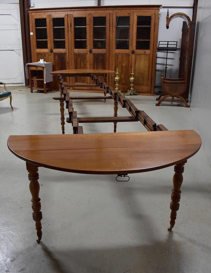 Table De Salle à Manger Extensible Antique En Merisier En
