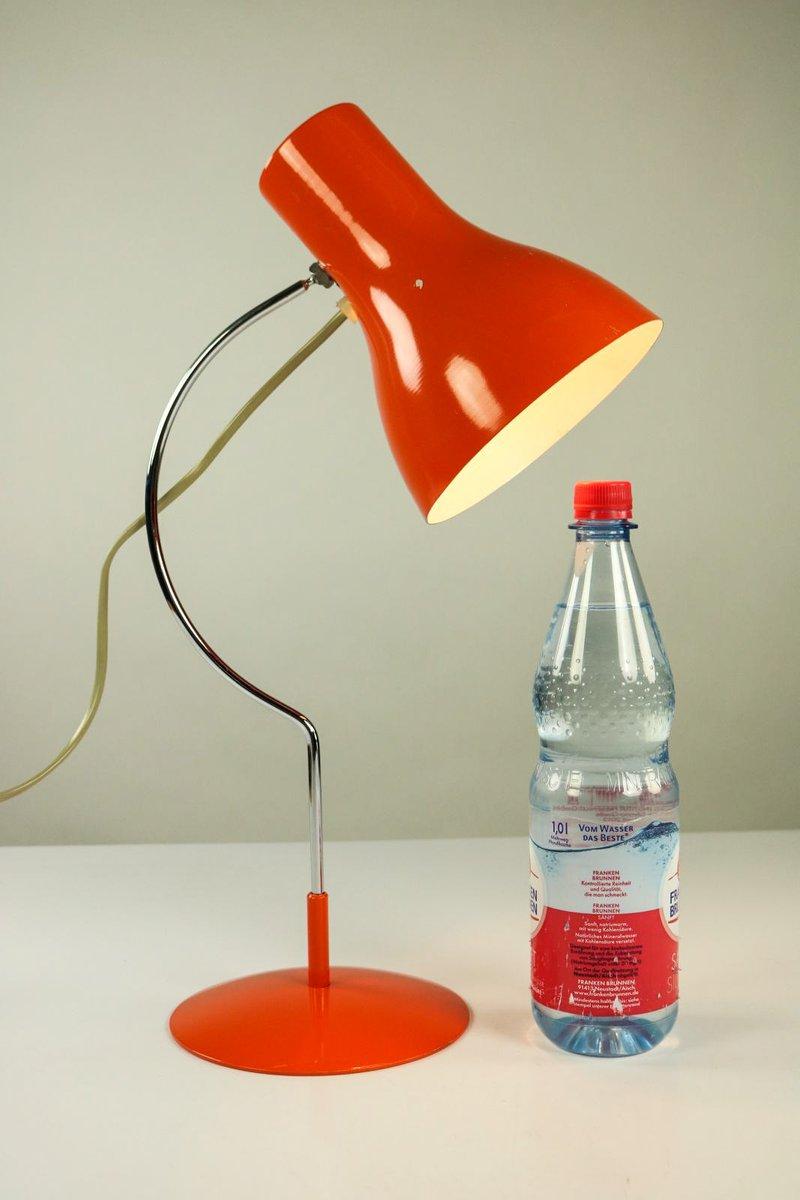 Josef Hurka Model 0521 Red Lamp Vintage Czech Lamp Mid Century Table Lamp by Napako Retro Designer Table Lamp