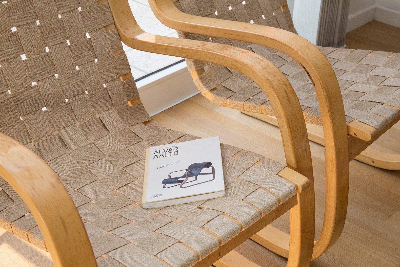 Birch Model 406 Chairs By Alvar Aalto For Artek For Sale