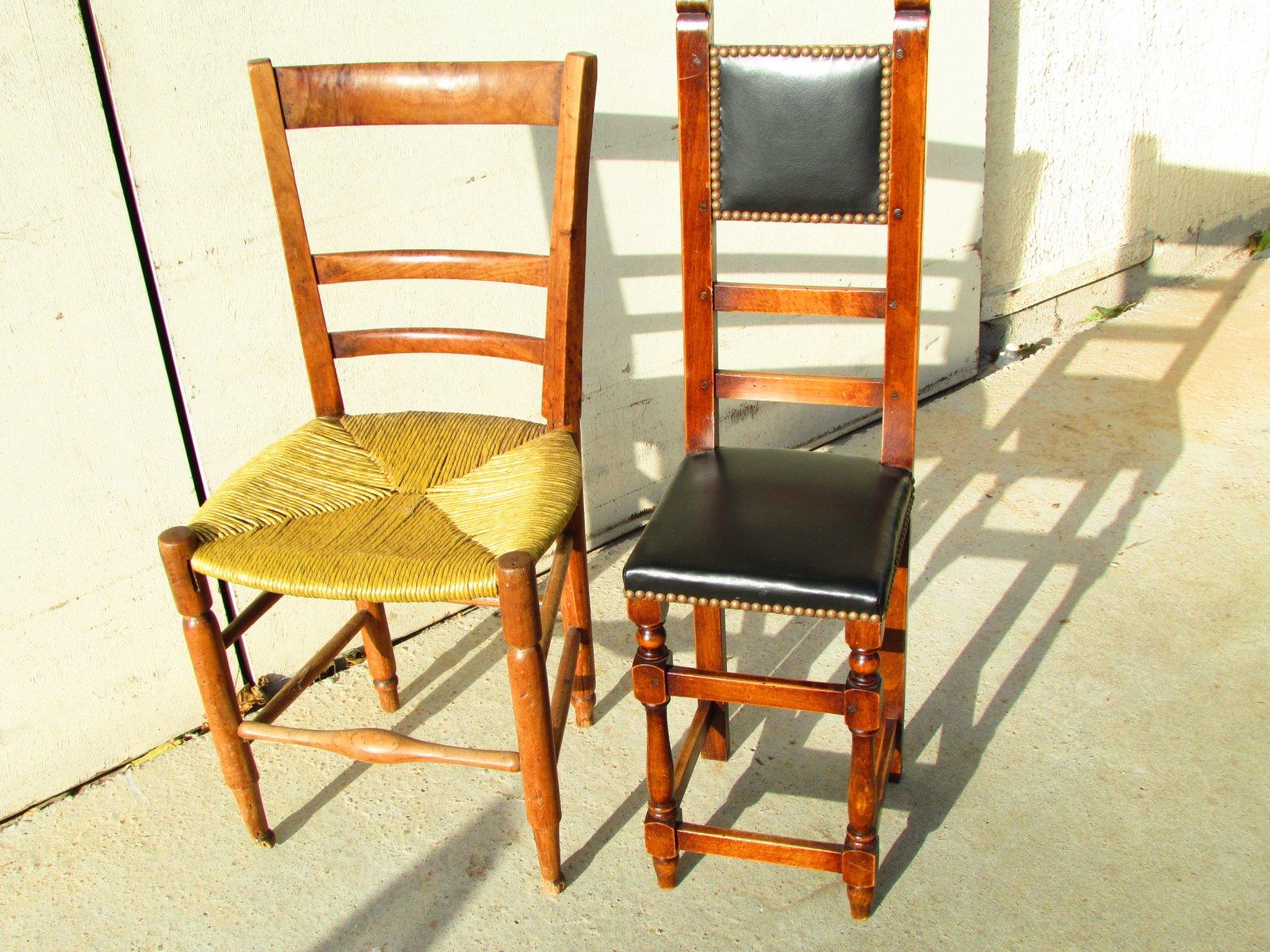 Petite Chaise pour Enfant en Bois et en Cuir, années 70 en ...