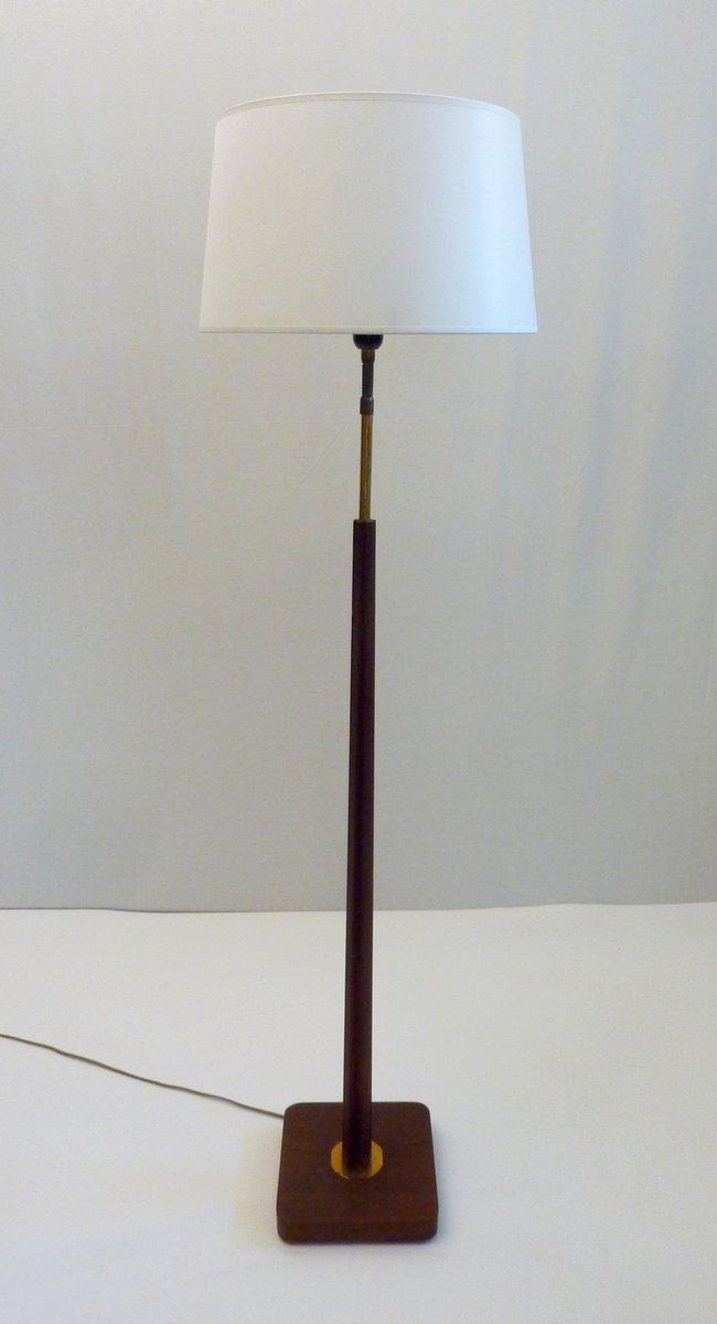 Schwedische Mid-Century Teak Stehlampe