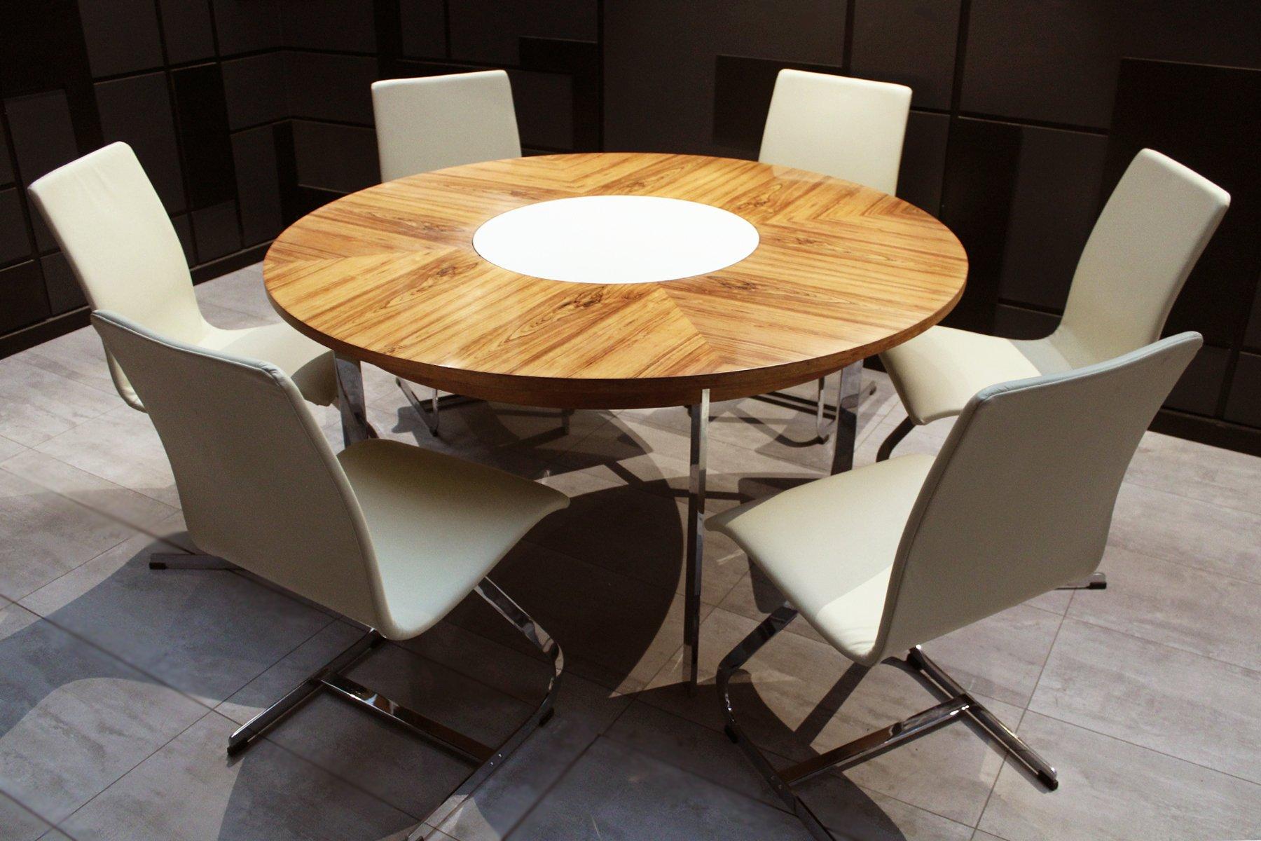 Tavolo da pranzo vintage in palissandro e sedie di Richard ...