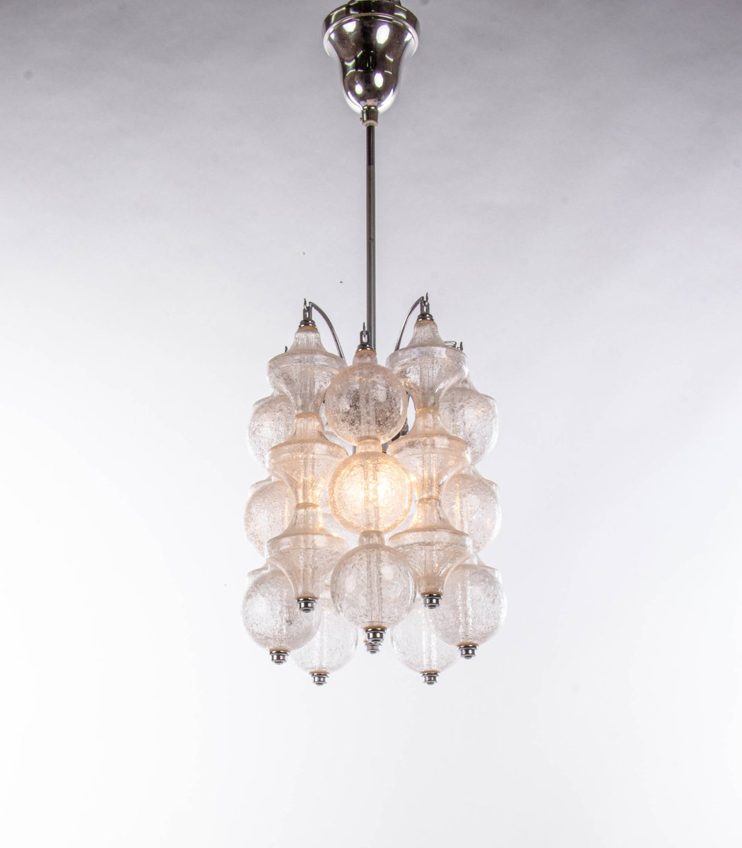 BUBBLE-ICIOUS  Murano Opalescent Caged Globe Pendant Chandelier  Snowball Chandelier  Brass And Glass Round Chandelier  Seguso