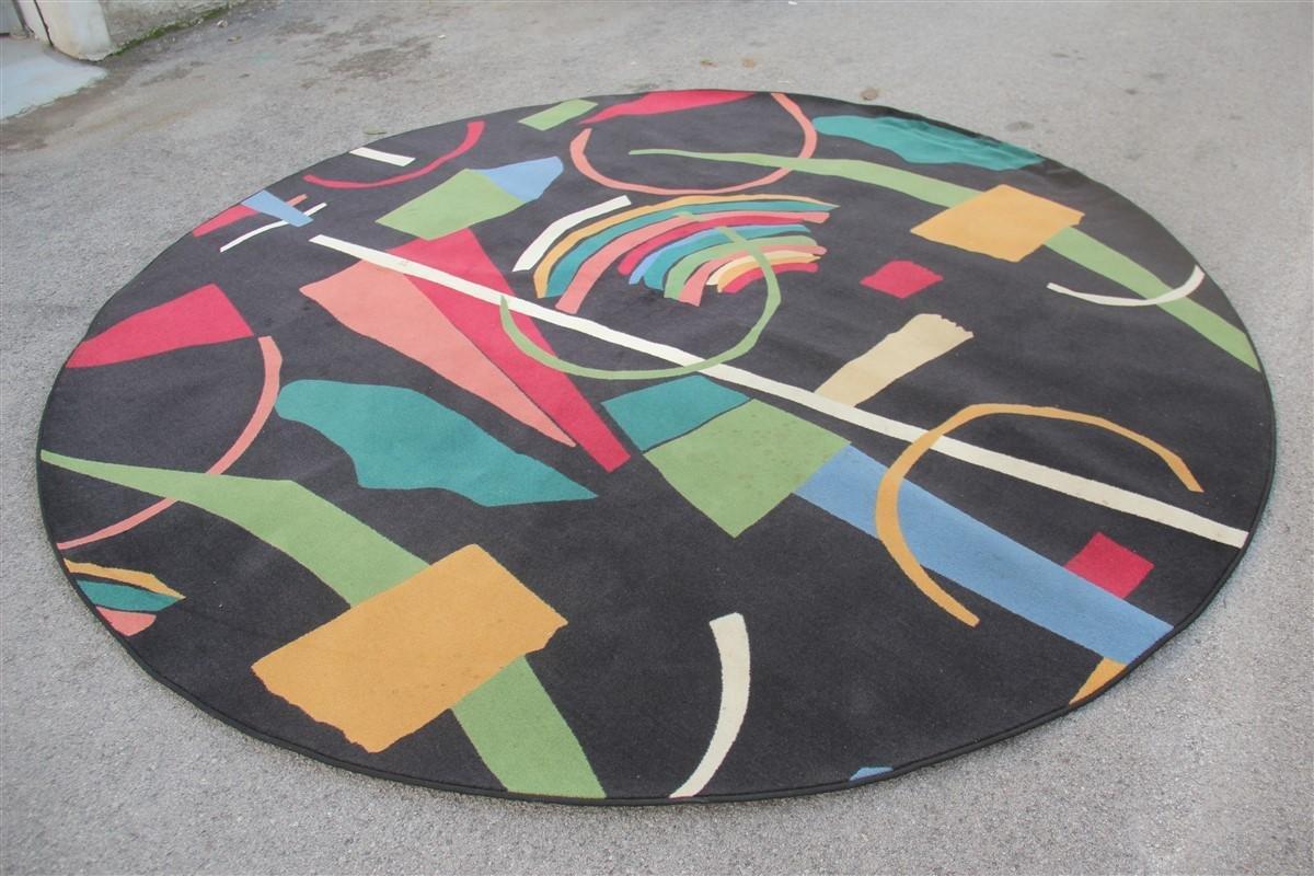 grosser runder ialienischer teppich er bei pamono kaufen