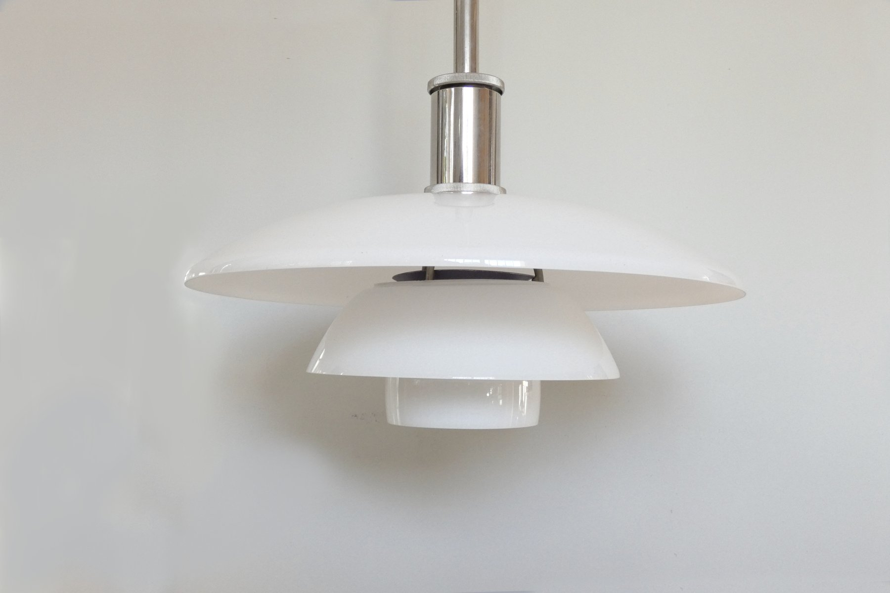 Antique french ceiling light in white opaline glass french pendant lamp height adustable system