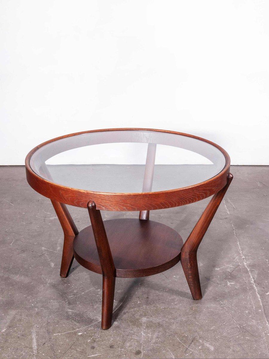 Round Dark Oak Side Table By Kozelka Kropacek For Interieur Praha 1950s For Sale At Pamono [ 1200 x 900 Pixel ]