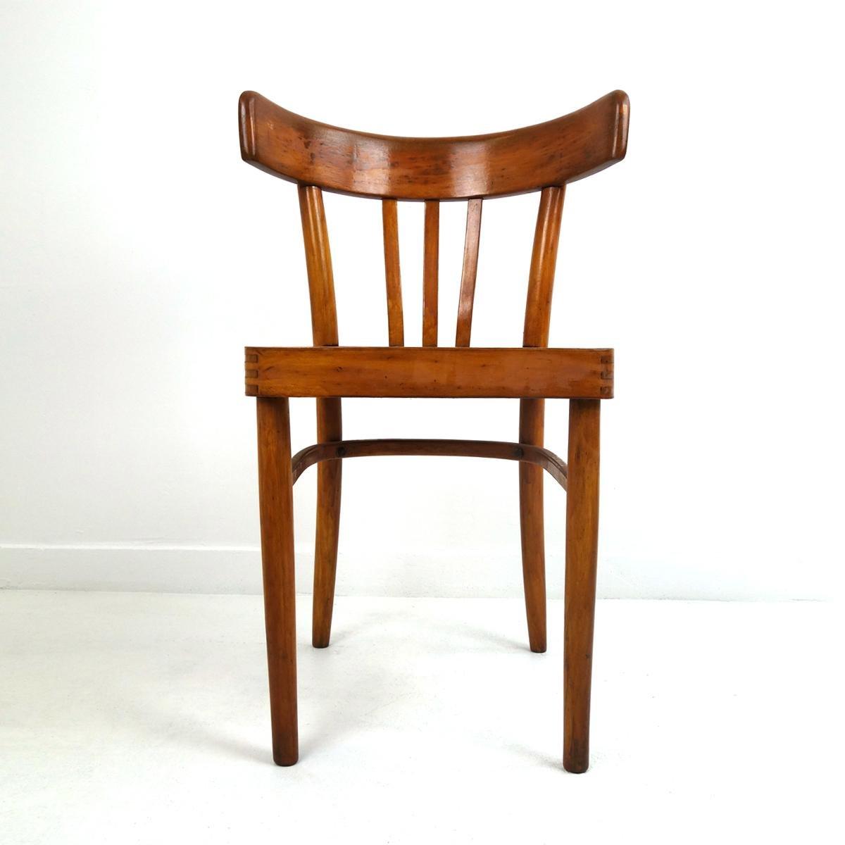 Sedie da pranzo vintage in legno di KOK, set di 5 in ...